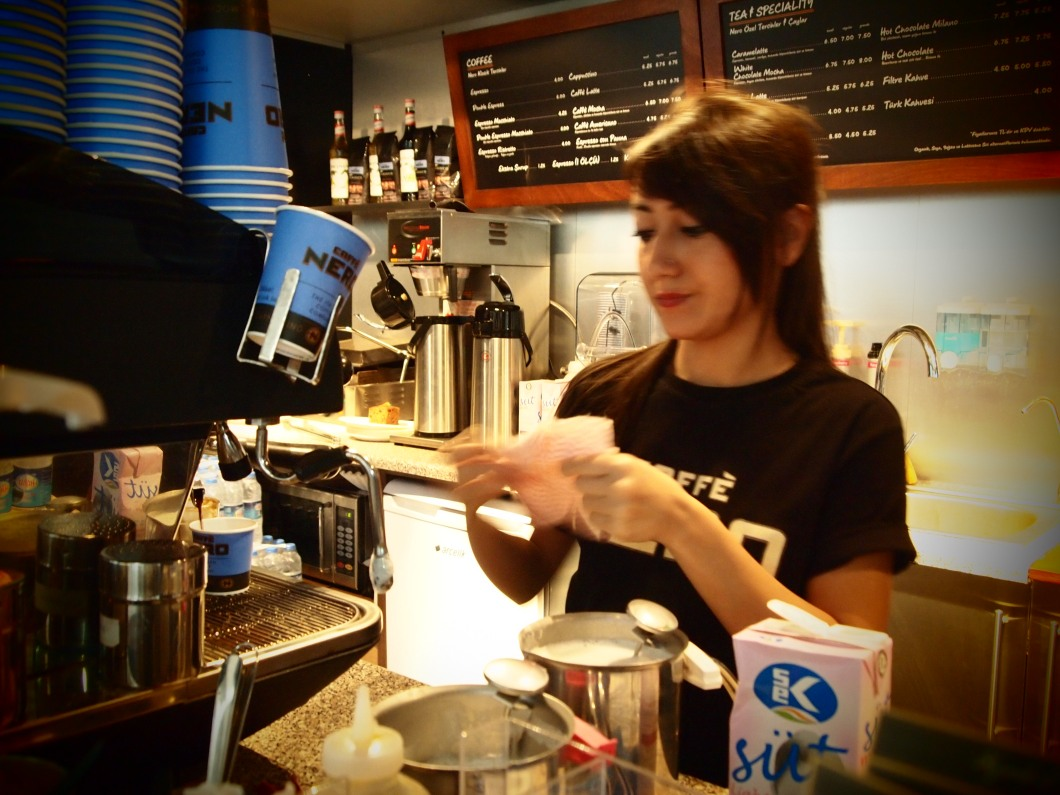 Drinking coffee is a part of life, so we need more good barists as her! From Nero...