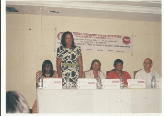 During a women leadership conference in CAMEROON