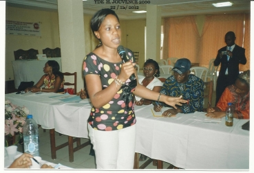 During a worshop on feminine leadership and gender balance
